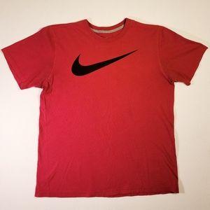Vintage Nike Red Logo Regular Fit T-Shirt